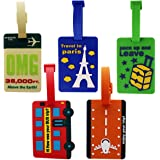Abaj Multicolor Luggage Tag(Pack Of 5)
