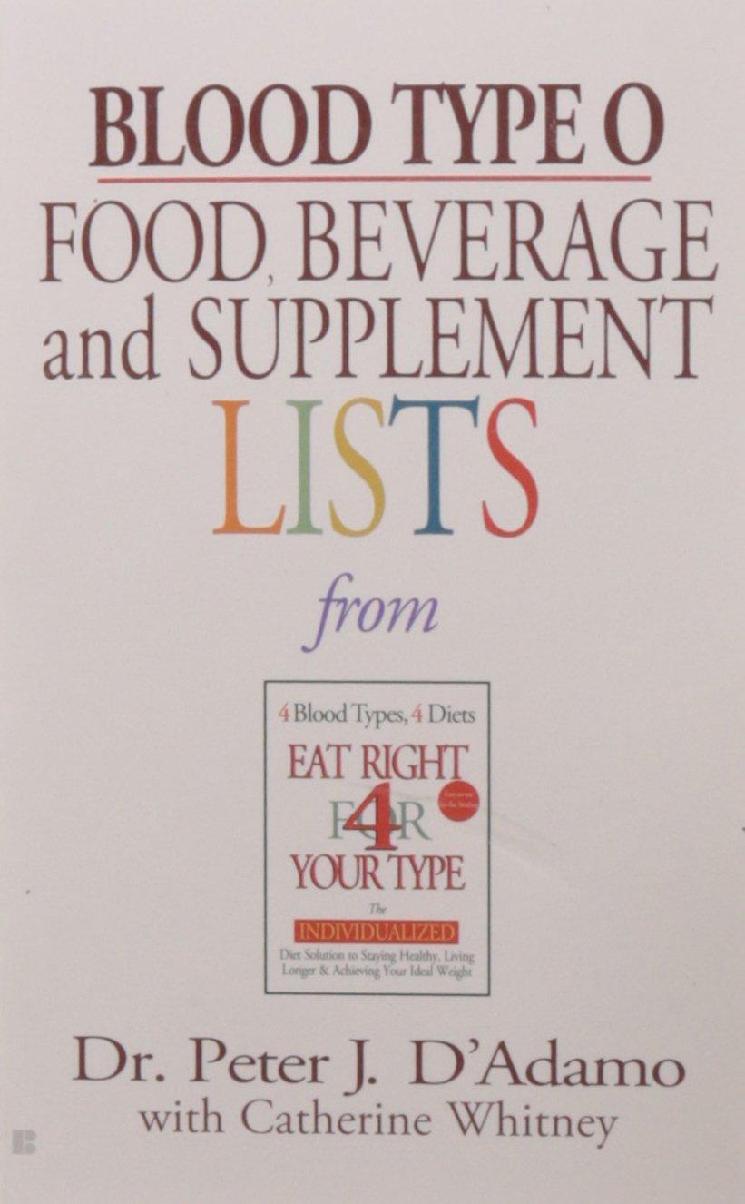 Blood Type Beverage Supplemental Lists