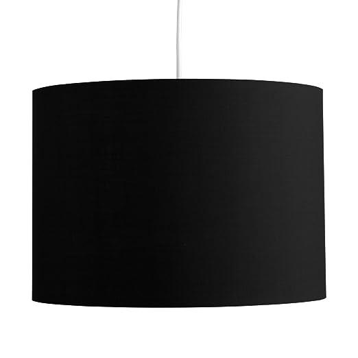 Minisun Grosser Moderner Und Schwarzer Lampenschirm In Zylinderform Fur Hange Und Pendelleuchte Oder Stehlampe