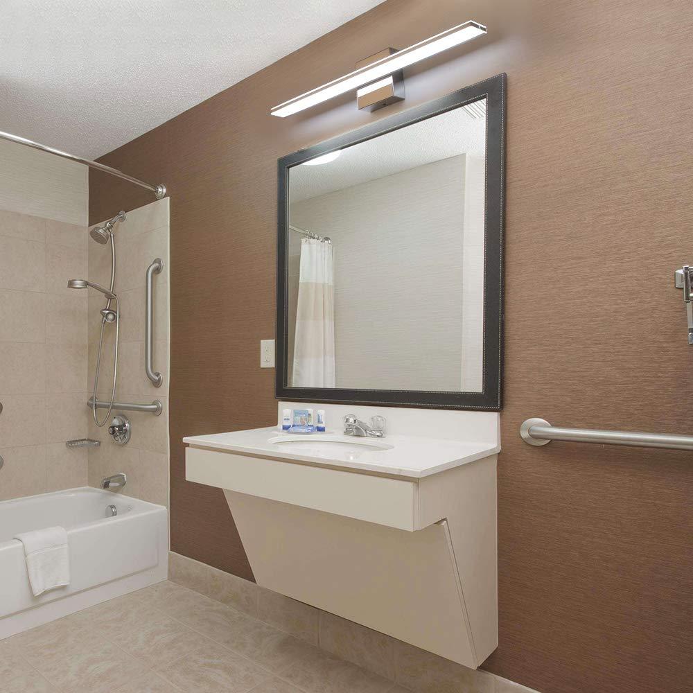 Bathroom Vanity Lights 21 3 Inch 15w Bathroom Light Fixtures 6000k Cool White Led Vanity Lights Crystal