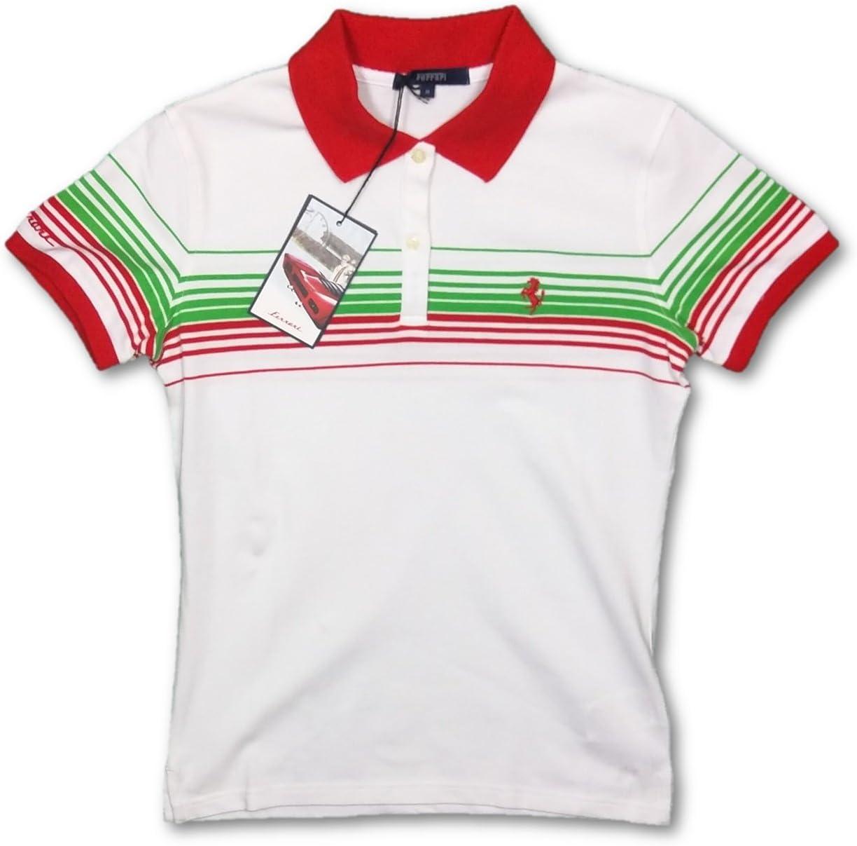 Ferrari F1 Ladies rayas algodón piqué Polo Varios colores ...