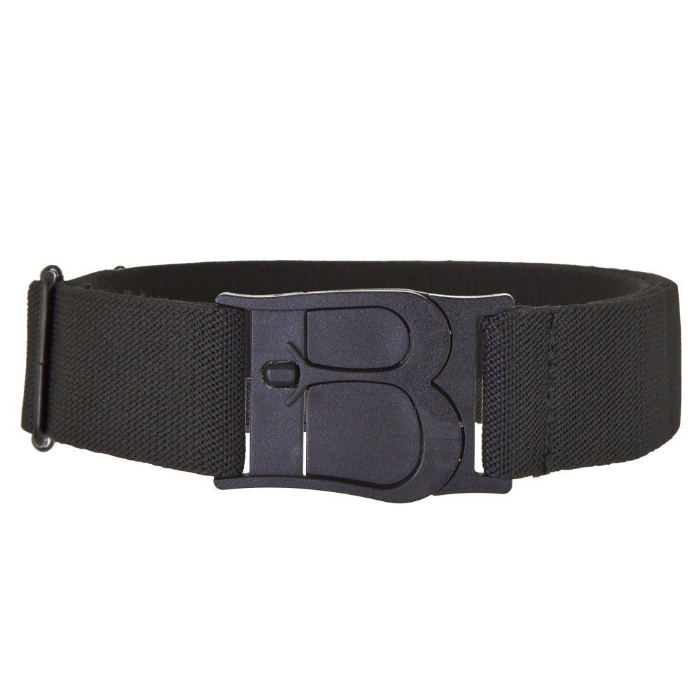 Beltaway Flat Buckle Stretch Belt, No Show Adjustable Belt BLACK One Size (0-14) Buckle Elastic Women's Belt BLACK One Size (0-14)
