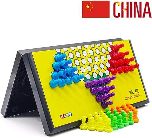 Damas Chinas Juego De Mesa para Niños Y Adultos Juegos Interactivos para Padres Y Niños Juegos Al Aire Libre para Familias 21 X 22CM: Amazon.es: Hogar