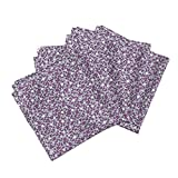 Roostery Square Organic Sateen Dinner Napkins Pansy Tiles by Siya Set of 4 Cotton Dinner Napkins Made