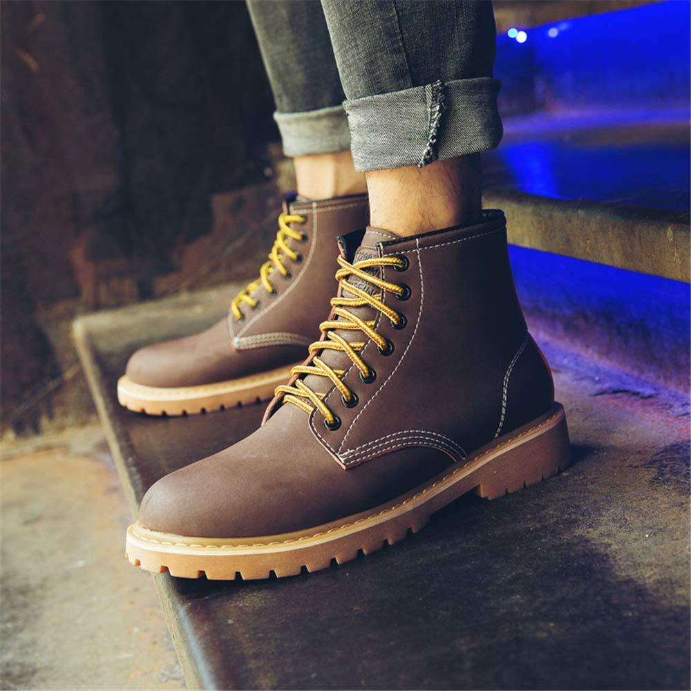 YAJIE-boots, Botas del tobillo de suave los hombres, zapatos de ocio Cuero suave de de la piel de cerdo Moda Top alto anticolisión Punta redonda Juventud Moda Estilo Suela antideslizante Resistente al desgaste dcb33d