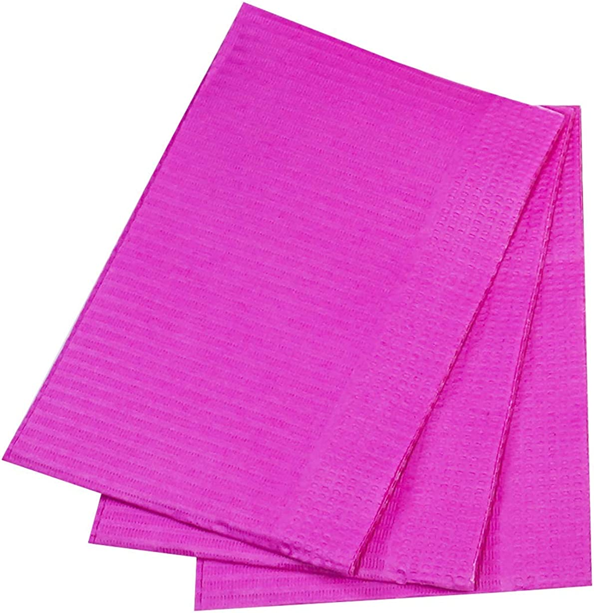 "50 Fuchsia Disposable Dental Bibs 13"" x 18"" Tattoo Piercing Waterproof Patient: Clothing"