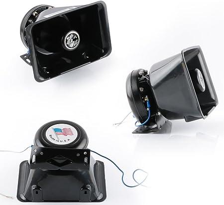 200/W 8/sonido Loud Alerta Alarma para Coche Polic/ía bomberos sirena cuerno altavoz PA con mando a distancia