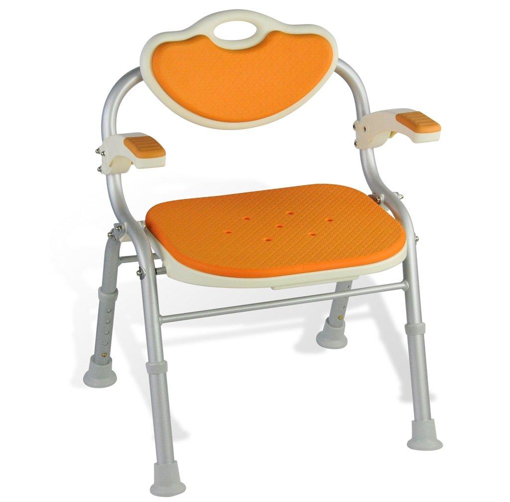 シャワー/バススツールアルミ合金シャワー座席椅子障害援助ノンスリップシャワーチェア背もたれとハンドルバスベンチ付きの高齢者/障害者/妊婦のための5つの高さで調整可能 (色 : #3) B07FHM1YBY  #3