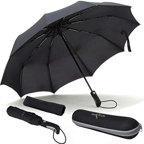 96107073834d PhlipUp- Teflon Coated WindProof Compact Travel Umbrella With Water Repel  Case