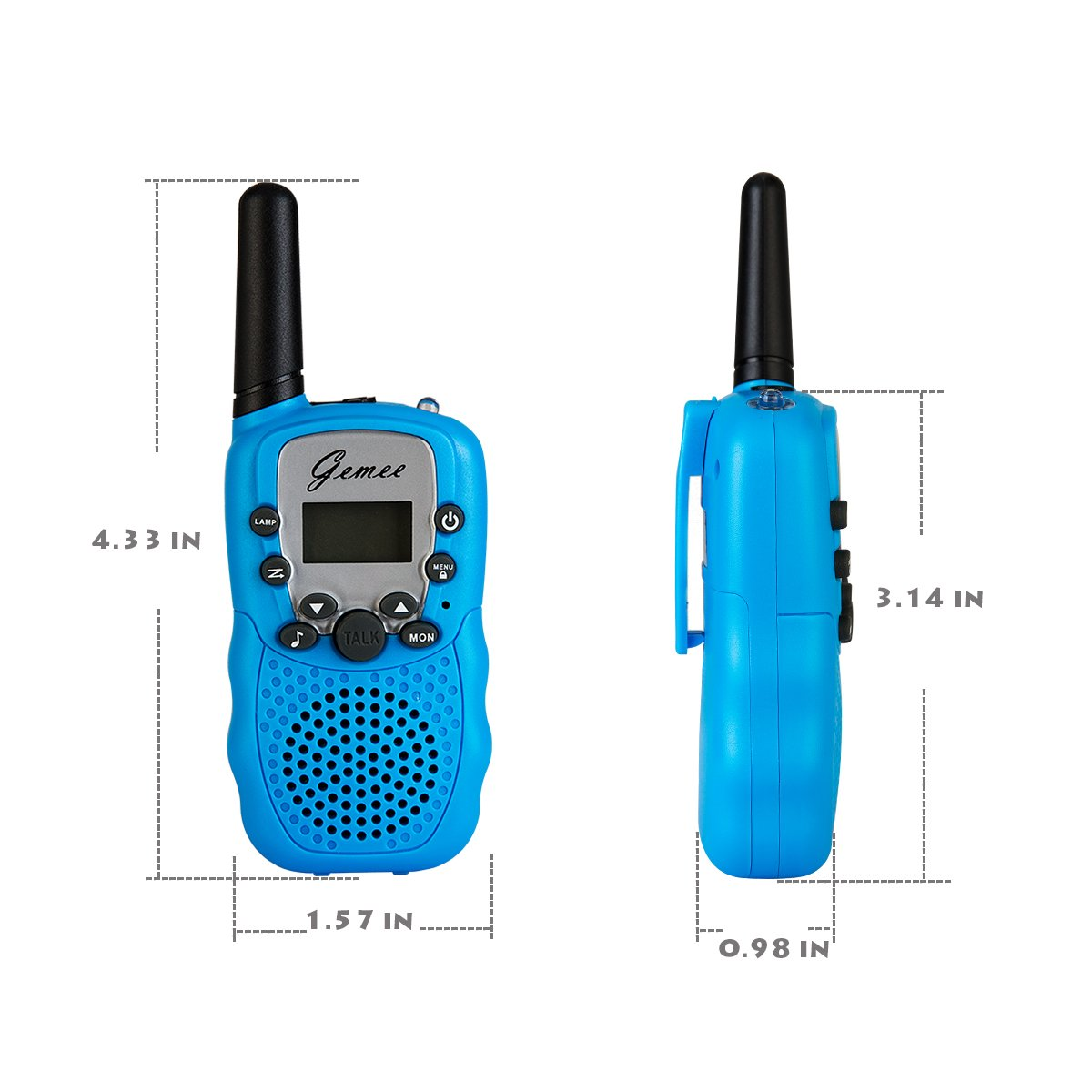 Amazon.com: Mini Walkie-Talkies - GEMEE Kid Gift Long Range UHF462-467MHz  22 Channel FRS/GMRS 2-Way Raidos Walkie Talkies with Rechargable Batterry  and ...