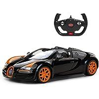 ABM Remote Control Bugatti Grandsport Vitesse 1:14 Scale Black Sports Car