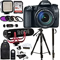 Canon EOS 70D Digital SLR Camera with 18-135mm STM Lens + Rode VMGO Video Mic GO Lightweight On-Camera Microphone Super-Cardio + Sandisk 32GB Class 10 + 72