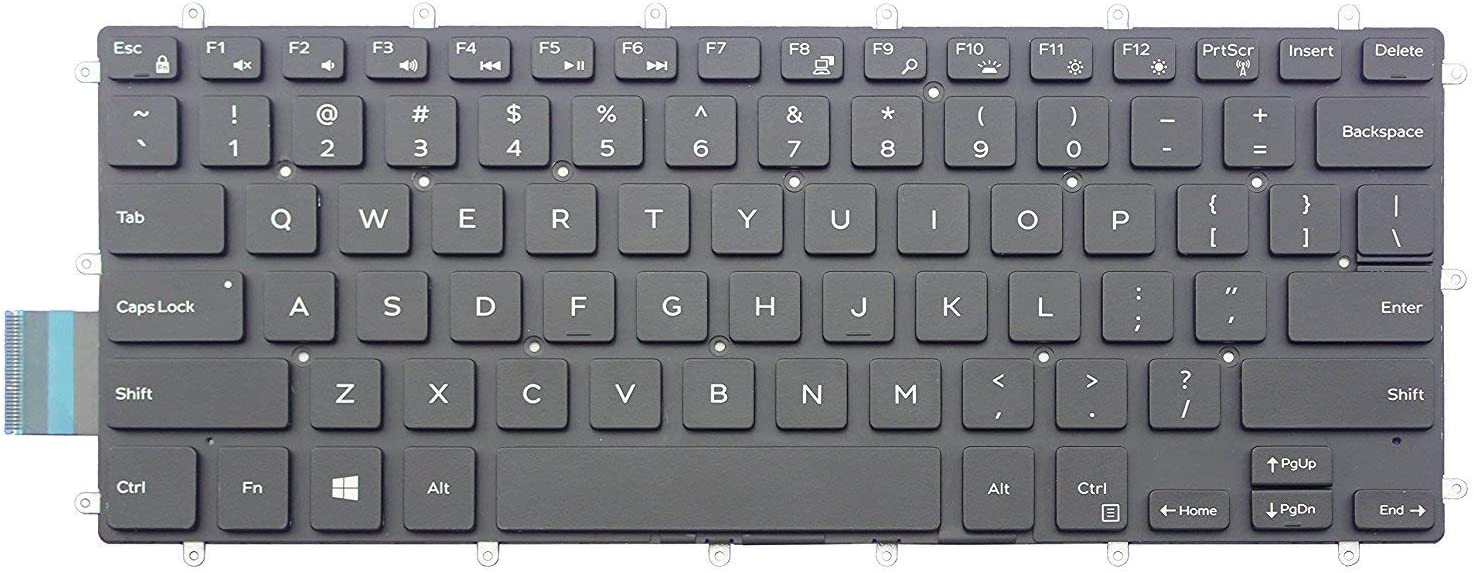 KBR Replacement Keyboard for Dell Inspiron 5368 5378 5370 5568 5578 5579, Inspiron 7368 7370 7373 7375 7378 7460 7560 7570 7572 7573 7579 Laptop with Backlit P/N:H4XRJ 0H4XRJ Black US Layout