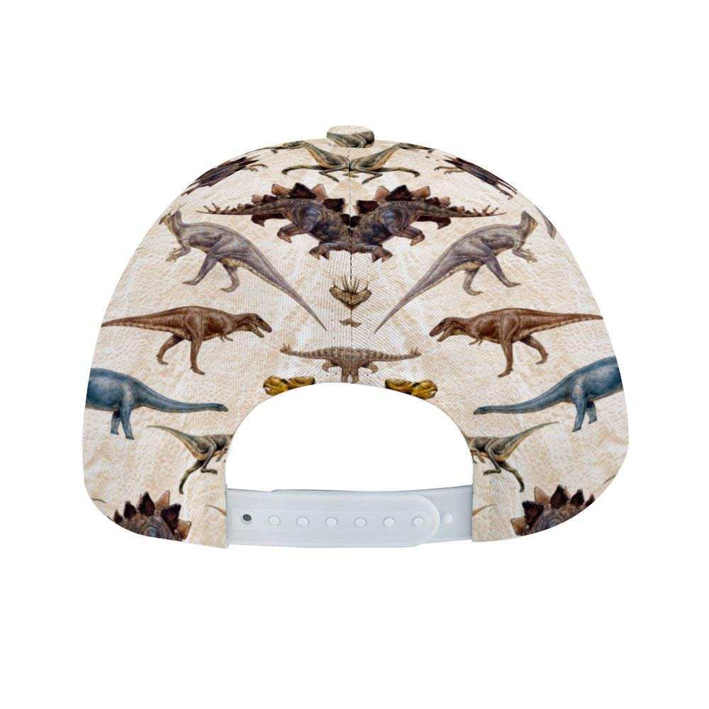 Liyingshun Dinosaurs Unisex Colorful Floral Print Baseball Cap Adjustable Dad Hats Hip Hop Hats