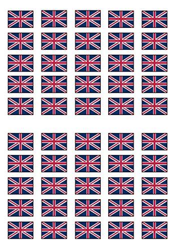 50 British Union Jack Flag Edible PREMIUM THICKNESS SWEETENE