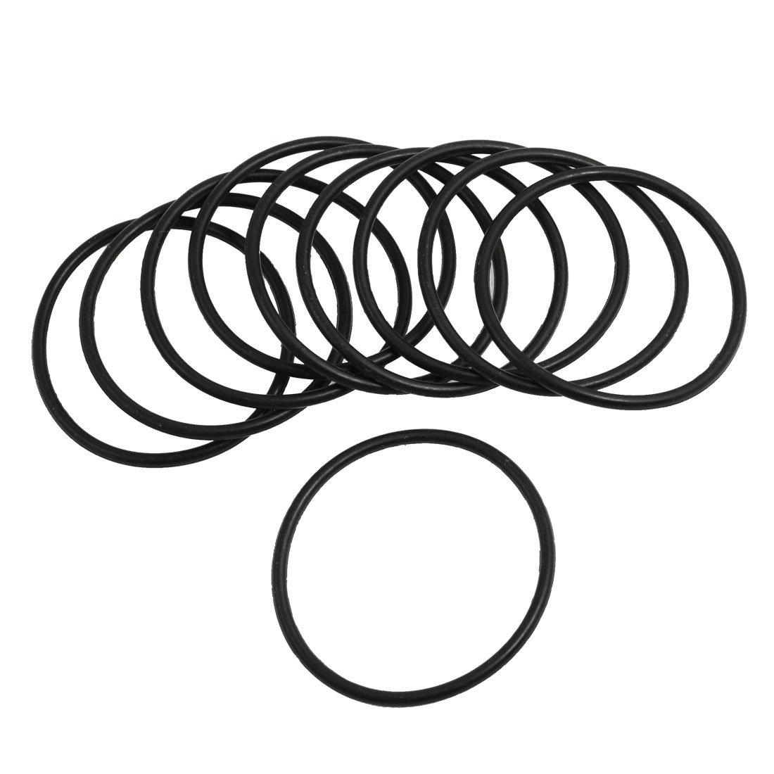 10 pezzi 3 mm x 57 mm Guarnizione in gomma Filtro olio O Rings Guarnizioni nero Sourcingmap a13030700ux0475
