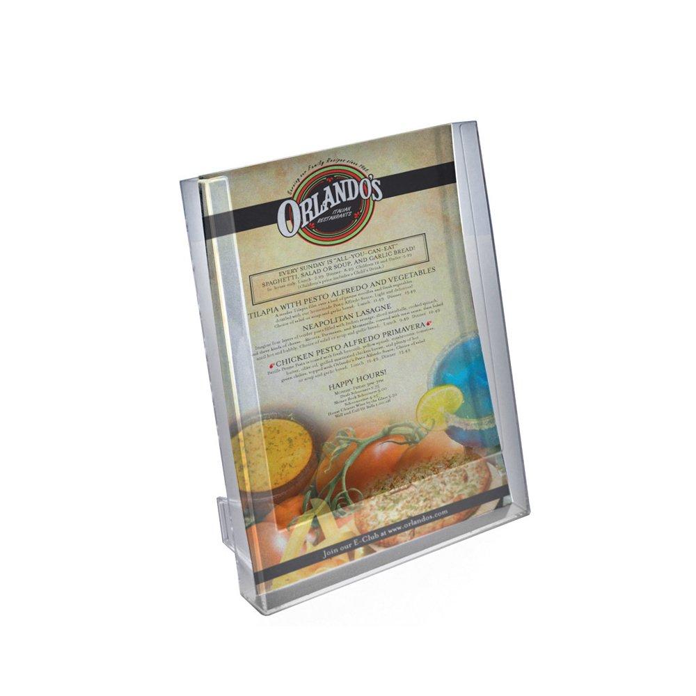 Azar Displays 252302 Single Pocket Letter Size Brochure Holder for Counter, 10-Pack