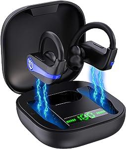 Wireless Earbuds, Bluetooth 5.1 Headphones Sport Wireless Earphones in Ear Noise Cancelling Earbuds with Mic Deep Bass TWS Earhooks IP7 Waterproof 40H Playtime Headset for Running Sports[New Upgraded]