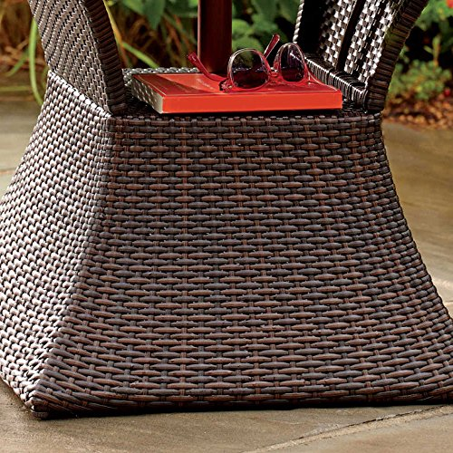 Rattan Coffee Table Dubai: Stratford Umbrella Stand Side Table With Shelf Wicker And