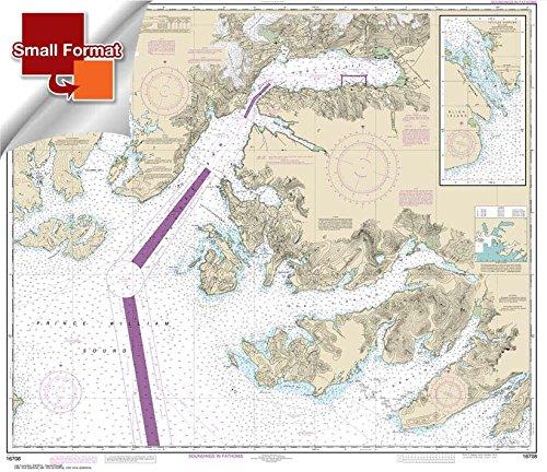 (NOAA Chart 16708: Prince William Sound-Port Fidalgo and Valdez Arm; Tatitlek Narrows 21.00 x 24.29 (SMALL FORMAT WATERPROOF))