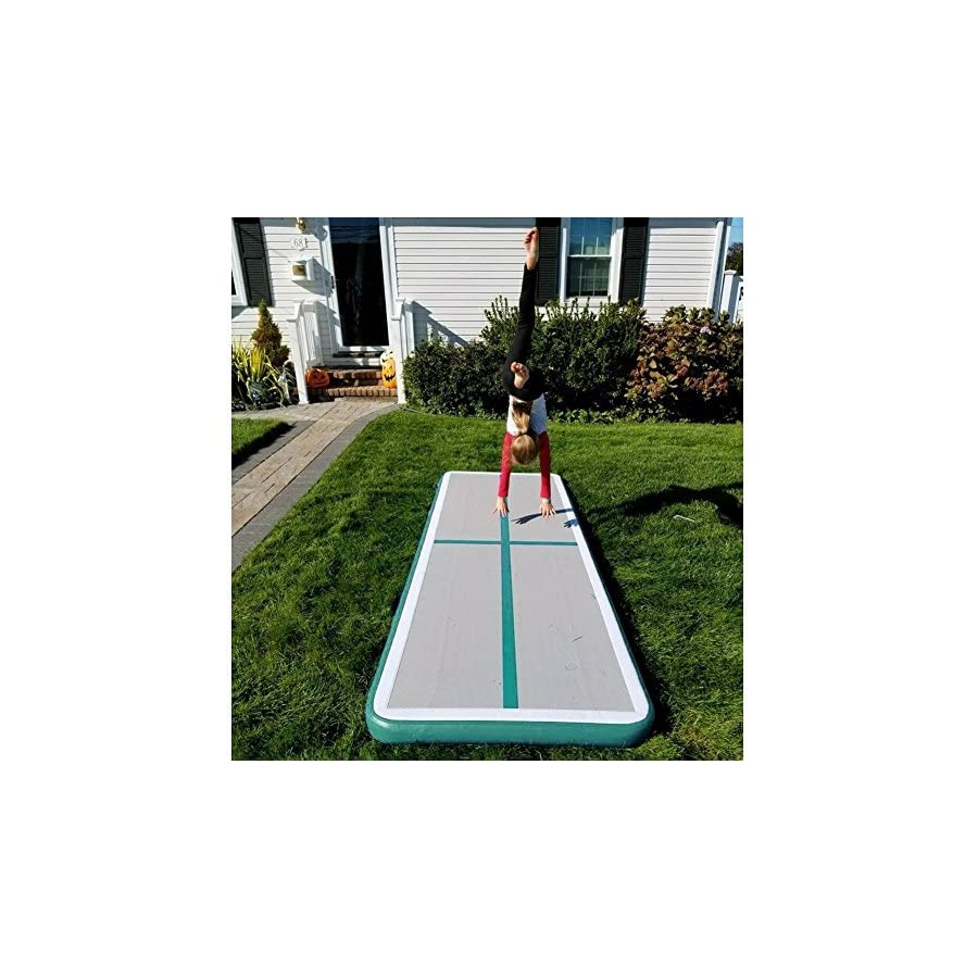 Cotogo Inflatable Air Track Tumbling Gymnastic/Yoga/Taekwondo/Water Floating/Camping Training mat with Electrical Pump (Excellent Gift to Daughter)