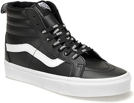 Vans Sk8 Hi Reissue Shoes 44.5 EU Black Leather: