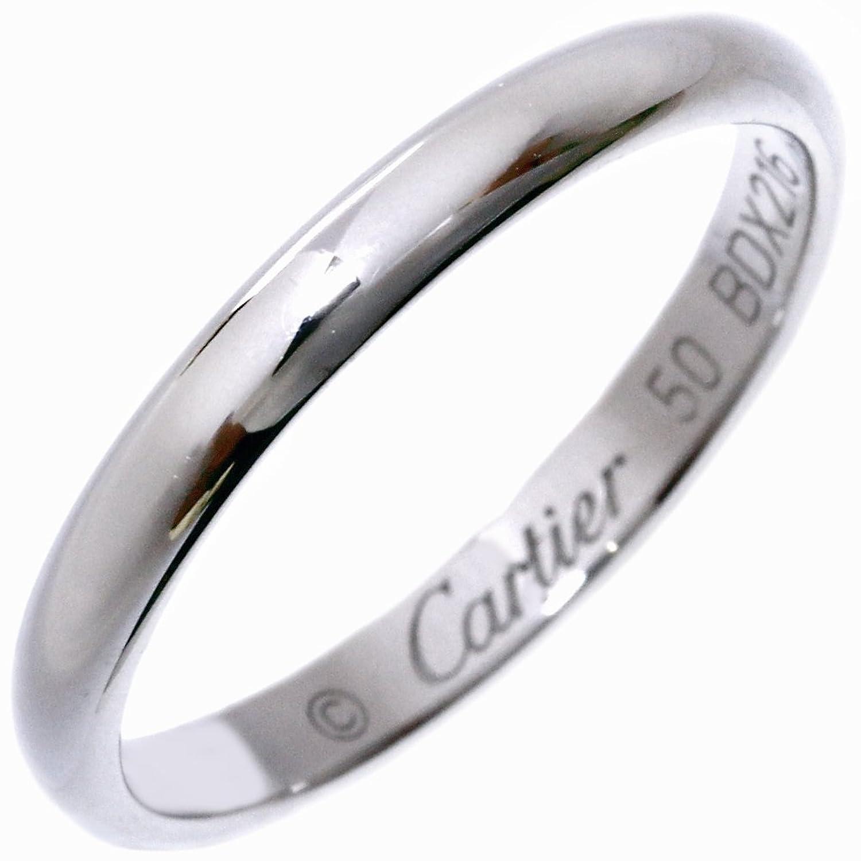 [カルティエ]Cartier Pt950 クラシックウェディングリング(1895ウェディングリング) 幅2.5ミリ 指輪 #50(10号) B40125 中古 B078LXX6ZL