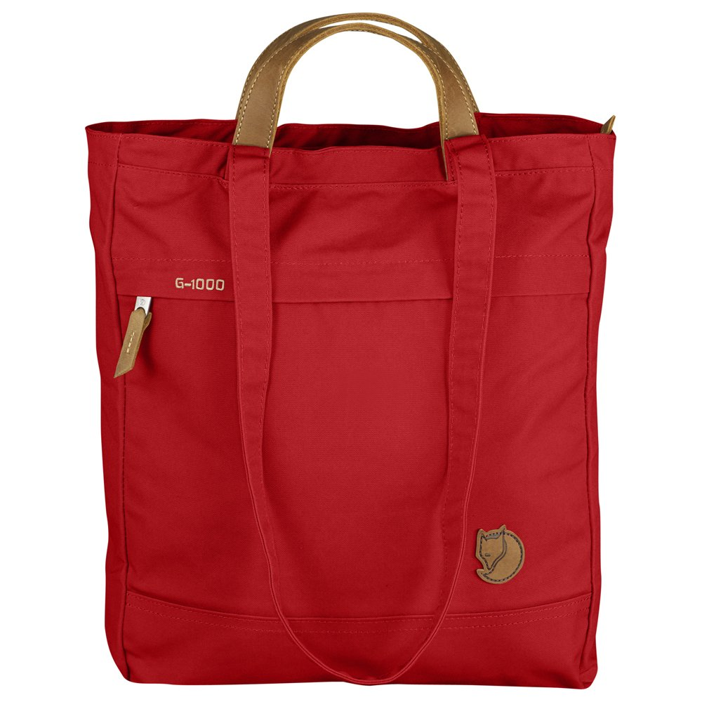 Fjallraven Totepack No. 1 - Minimalist Lightweight Zippered Tote with Leather Accents, Double Layered Bottom, Internal Safety Pocket, Backpack Everyday Carry Tote bag