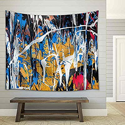 Grand Creative Design, Dripping Paint Graffiti Wall Close Fabric Wall, Made With Top Quality