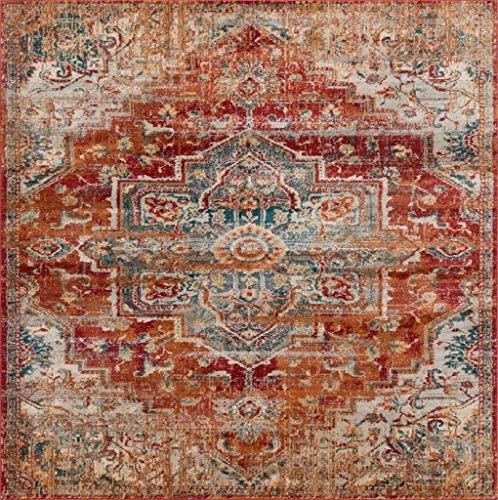 Luxe Weavers Red 8×10 Oriental Area Rug