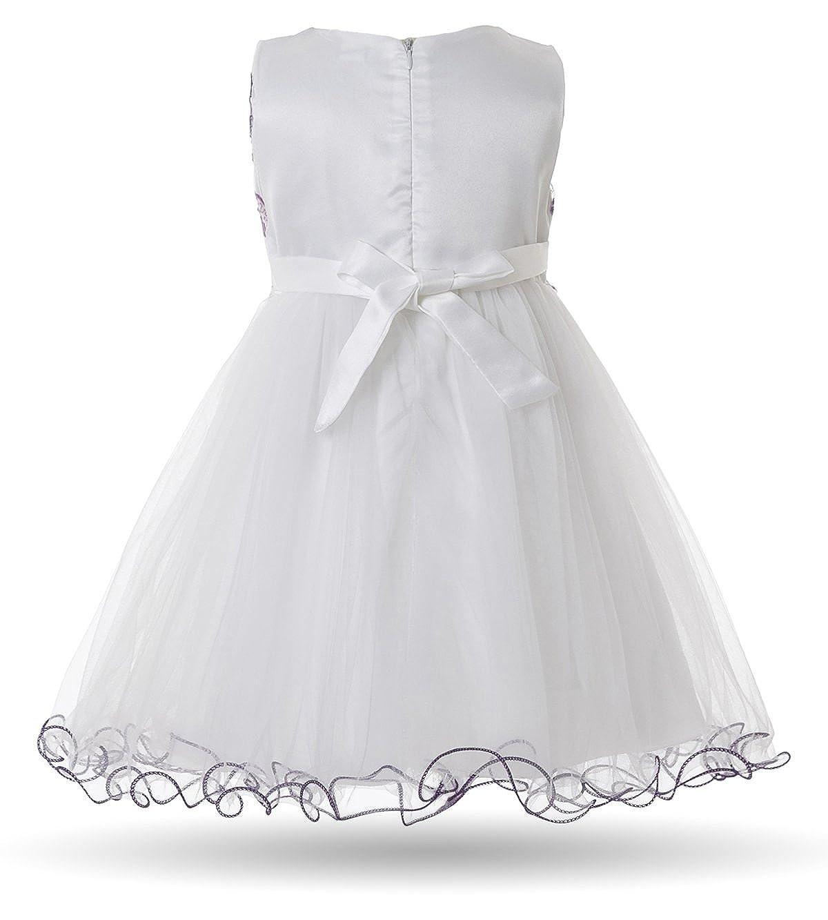 4f3cc3d52 CIELARKO Baby Girl Dress Infant Flower Lace Wedding Party Dresses ...
