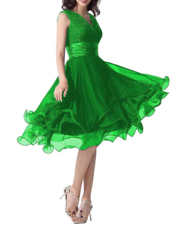 Green Monalia Women's Tulle Tea Length Prom Dresses Formal Evening Gown P152
