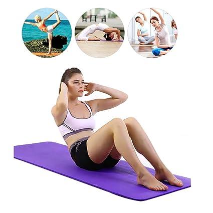 Amazon.com: La esterilla de yoga de felpa púrpura para niñas ...