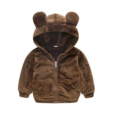 8e858869c60 Lucaso 子供服 男の子 女の子 パーカー フード付き 長袖 可愛い 無地 熊の耳 ポケット 韓国