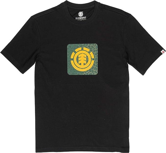 Element Hombre Camiseta Leopard Block Icon (Eclipse Navy): Amazon.es: Ropa y accesorios