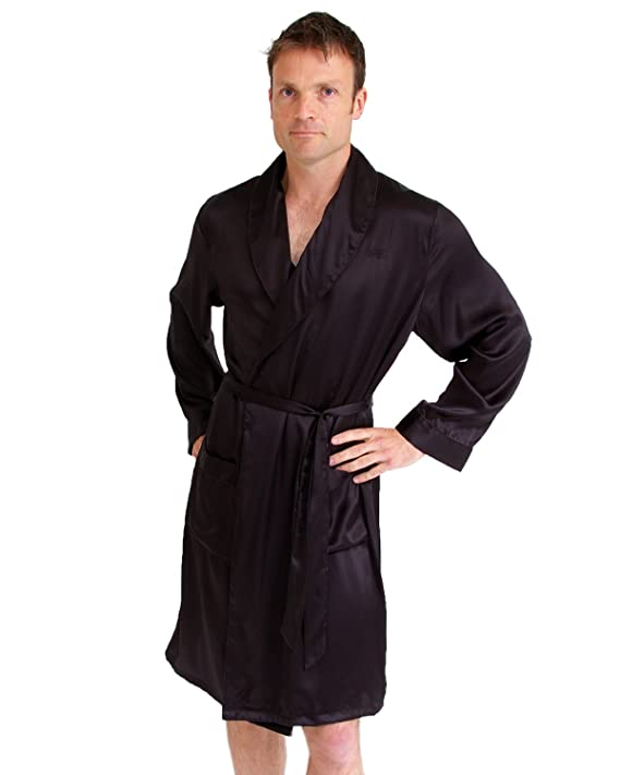 Amazon.com: Short silk men\'s dressing gown: The House of Silk: Clothing