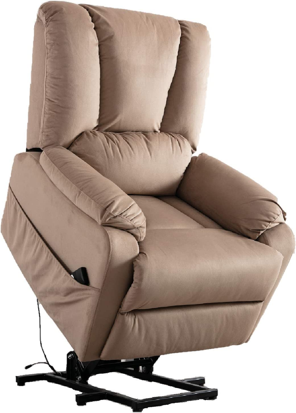 Merax Power Lift Recliner Chair Lazy Sofa for Elderly, Heavy-Duty Fuction with Remote Control, Office or Living Room, Mocha