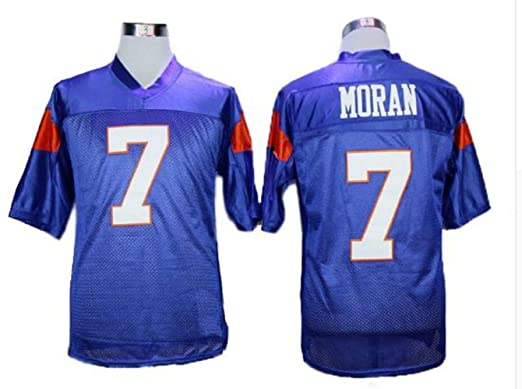 84f1d068c borizcustoms Alex Moran Football Blue State Jersey Stitch Sewn New Shirt  (30