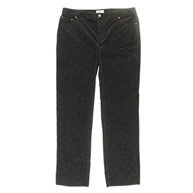 Charter Club Women's Paisley Pattern Corduroy Pants (16, Rich ...
