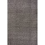 Nuloom 5′ x 8′ Hand Woven Ago Rug in Black For Sale