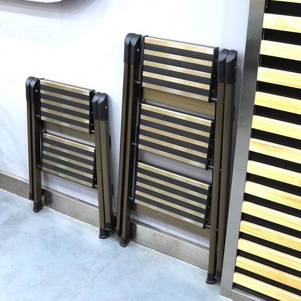 Size : Double Layer Couleur: Or, Taille: 47 * 62 * 89cm OhLt-j Escabeau Pliant , Stools Ladder Home Multi-Function Small Ladder /Échelle dint/érieur Pliante en Deux /étapes en Trois /étapes