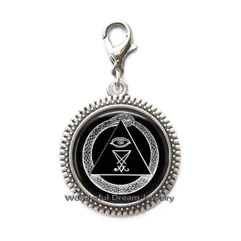 Waozshangu® - Pulsera Langosta Illuminati Cierre Cremallera ...