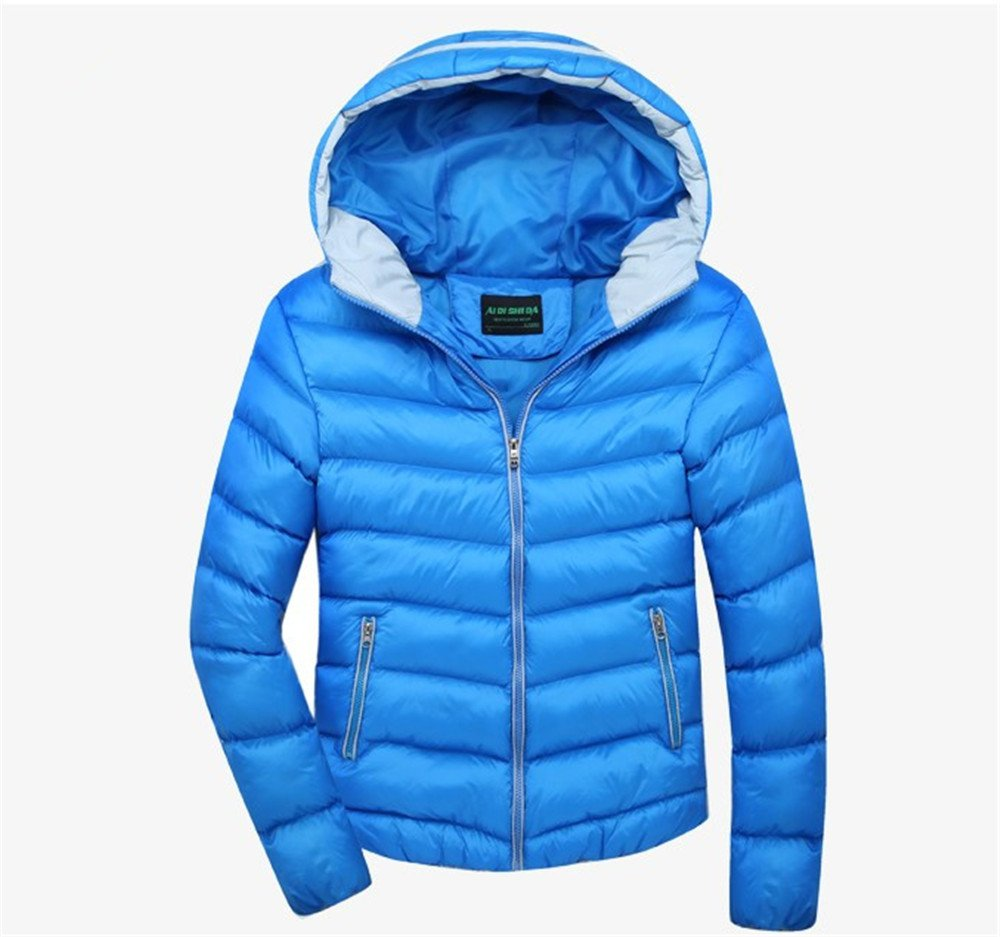 Men's Outerwear Jackets & Coats Boy's Cotton Padded Zip Quilted Light Hooded Sportswear by H.Tavel (Image #2)