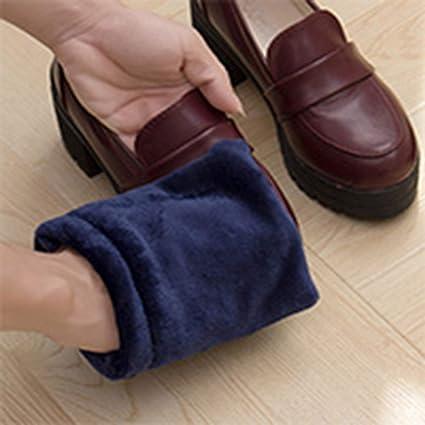 Dooret Limpieza de Zapatos Guantes de Tela Cepillo de Tela Guantes de Zapatillas de Felpa Limpiador