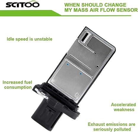 SCITOO Mass Air Flow Sensor Meter MAF fit Isuzu Axiom Rodeo 2004 3.5L AFH70M39 7450061