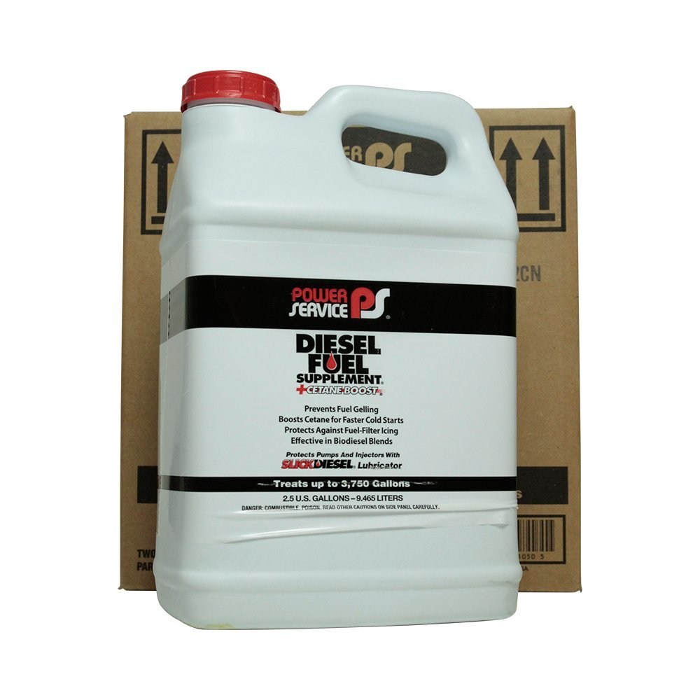 Power Service 01050-02 +Cetane Boost Diesel Fuel Supplement - 2.5 Gallon by Power Service