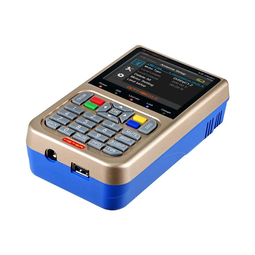 JUSHENG Newest GTMEDIA V8 Finder Digital Satellite TV Signal Finder Meter (V-73HD) DVB-S2 FTA LNB Signal Meter Pointer Satellite TV Receiver Tool with 3.5' LCD by JUSHENG (Image #8)