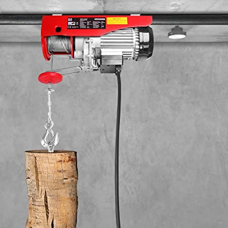 Monzana Cabestrante eléctrico 400/800 kg altura de elevación polipasto para garaje taller cable de control herramienta: Amazon.es: Bricolaje y herramientas