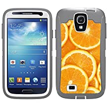 Skin Decal for Otterbox Defender Samsung Galaxy S4 Case - Orange Slices