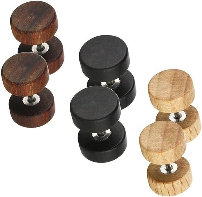 Wood crack skull earrings stud earrings girls womens costume jewellery